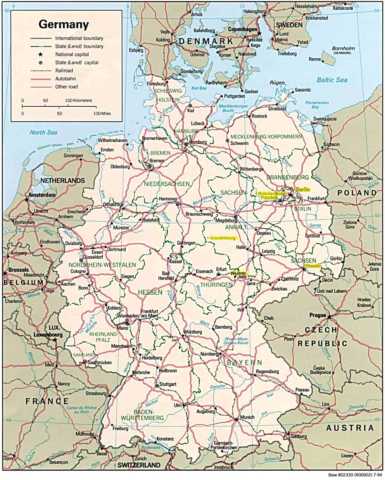 East Germany SepOct - Germany map with cities
