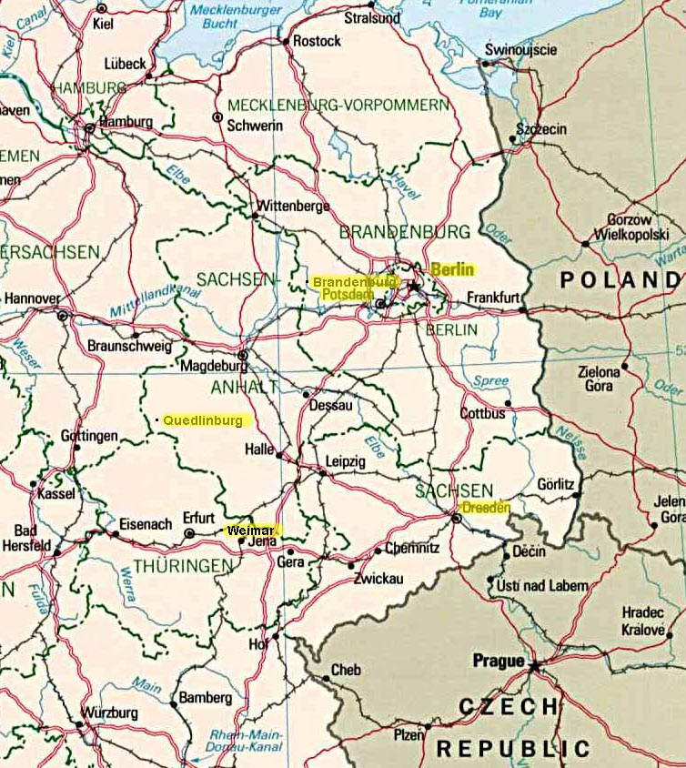 West East Germany Map.East Germany Sep Oct 2005