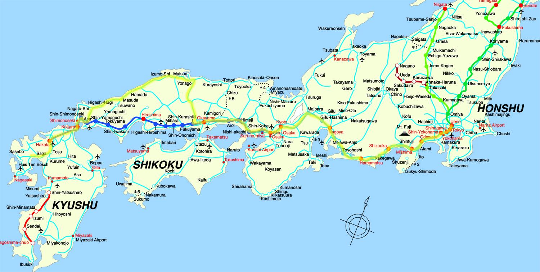 JAPAN - Japan map time zones